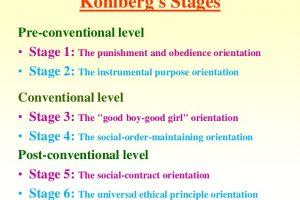 kohlberg's stages of moral development kohlbergs moral development