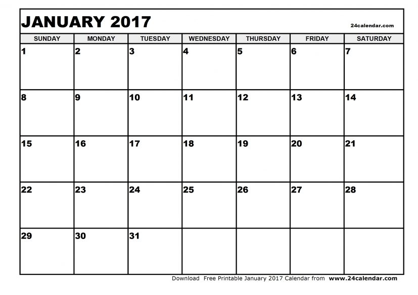January 2017 Activity Calendar | Babcock Community Care Centre