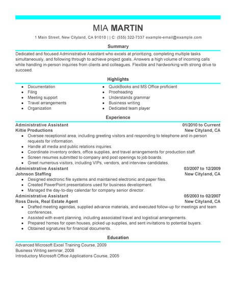 administrative assistant resume examples 2018 resume 2018 with