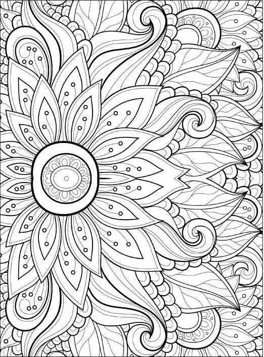 Adult Coloring Pages: Flowers 2 2 | Adult Coloring Pages | Pinterest