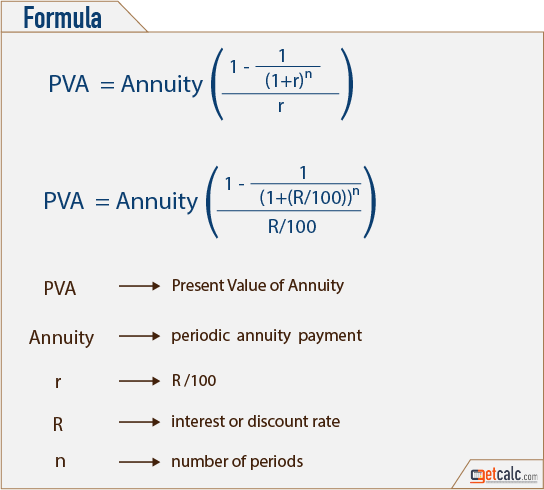 present value of an annuity formula Ideal.vistalist.co