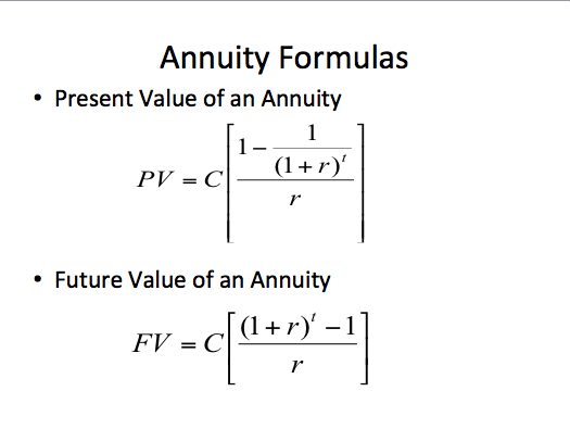 how to perform annuity present value calculation method explained