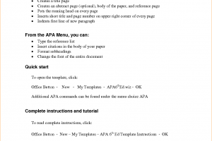apa outline template apa outline