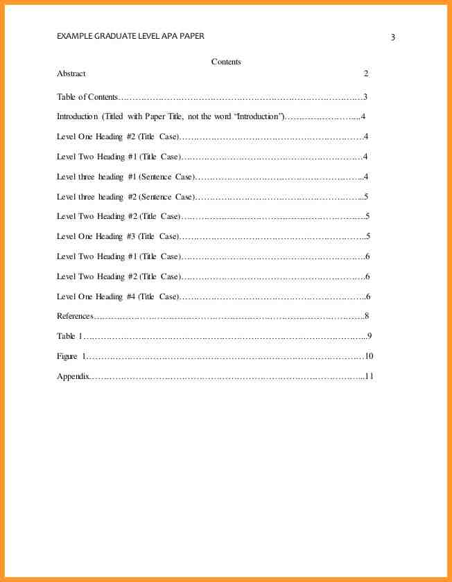 apa style table of contents Coles.thecolossus.co