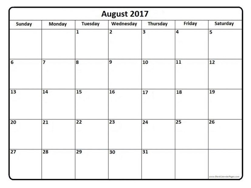calendar aug 2017 Coles.thecolossus.co