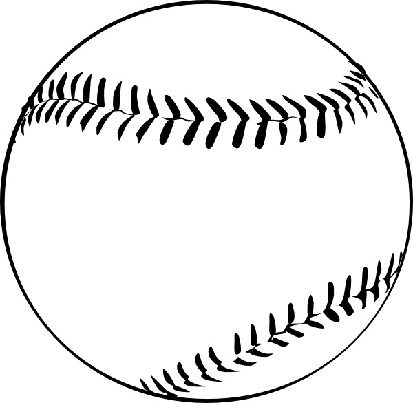 Baseball (b And W) clip art Free vector in Open office drawing svg