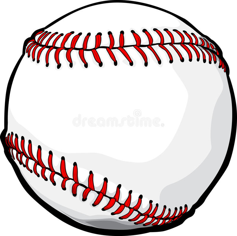 Vector Baseball Ball Image stock vector. Illustration of images