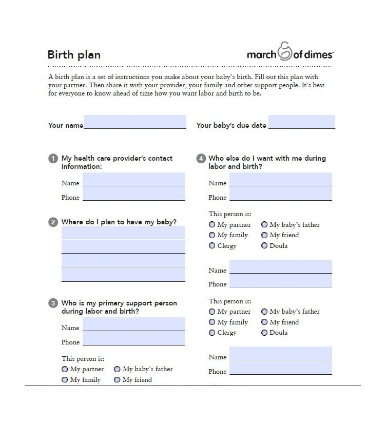 Natural Birth Plan Printable | Baby Checklist | Pinterest | Birth