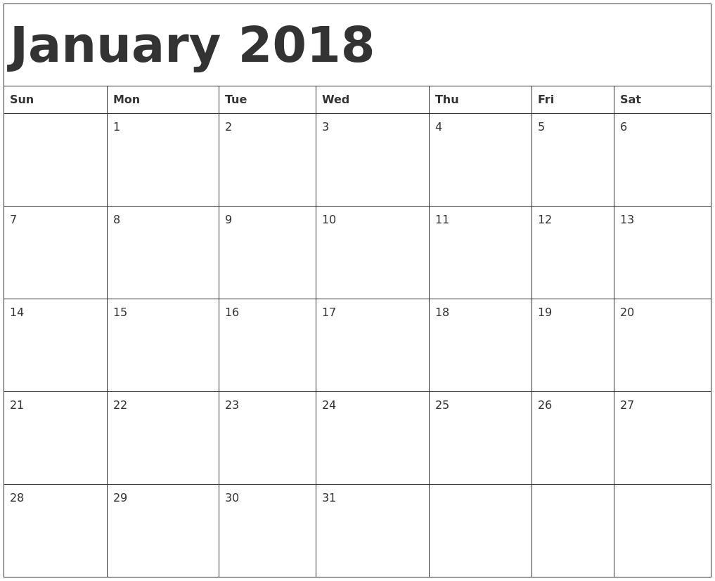printable calendar for 2018 Coles.thecolossus.co