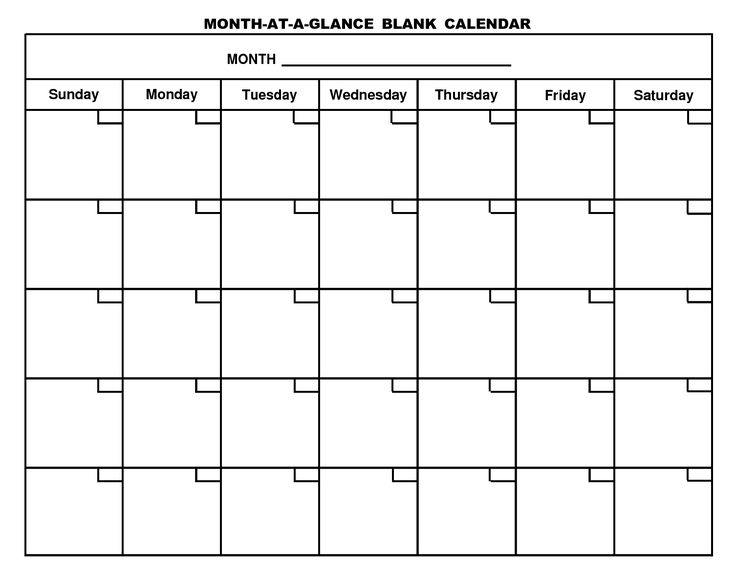 calendar blank month Coles.thecolossus.co