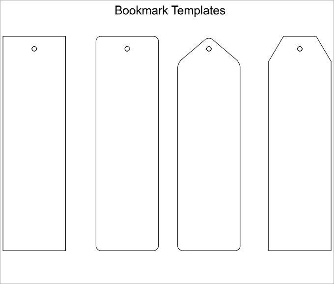 Blank Bookmark Template, Bookmark Template … | Pinteres…