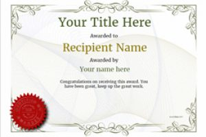 certificate template free vintage default blank thumbnail