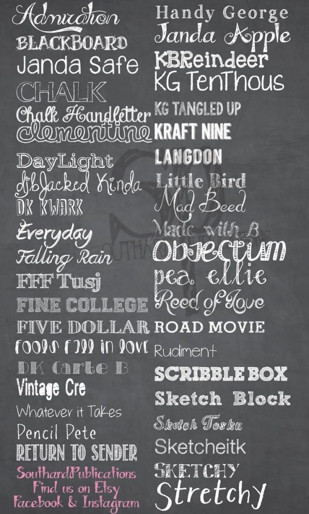 best chalkboard fonts Coles.thecolossus.co