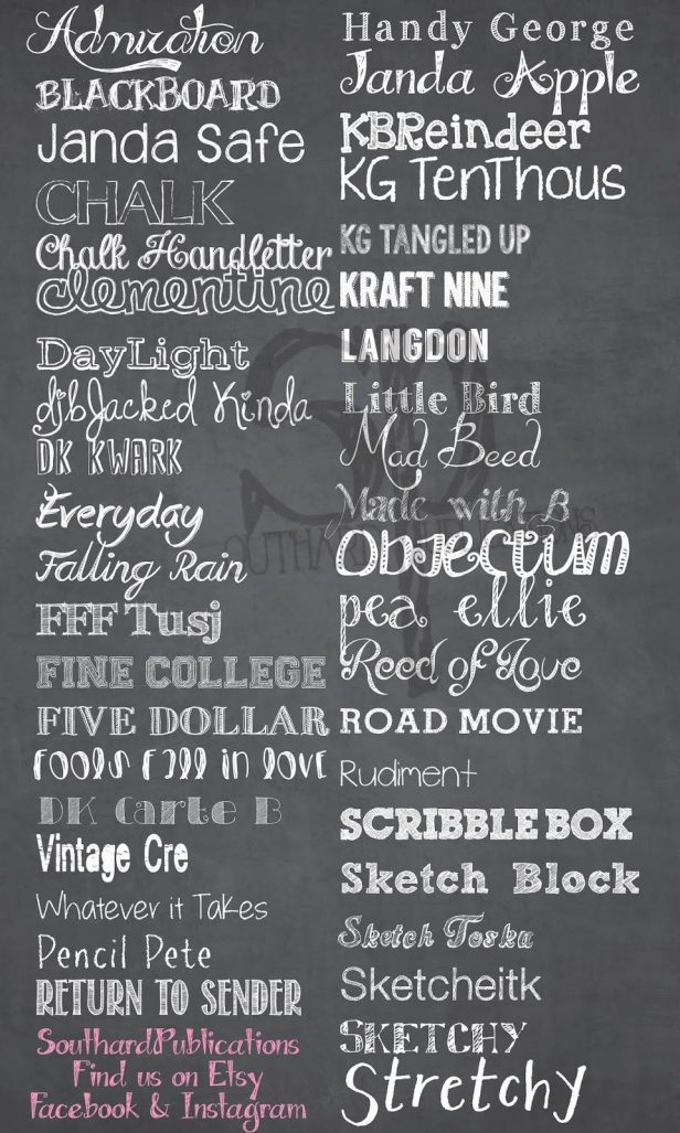 My New Blog! SouthardBelle Free chalkboard fonts! | Southern Arrow