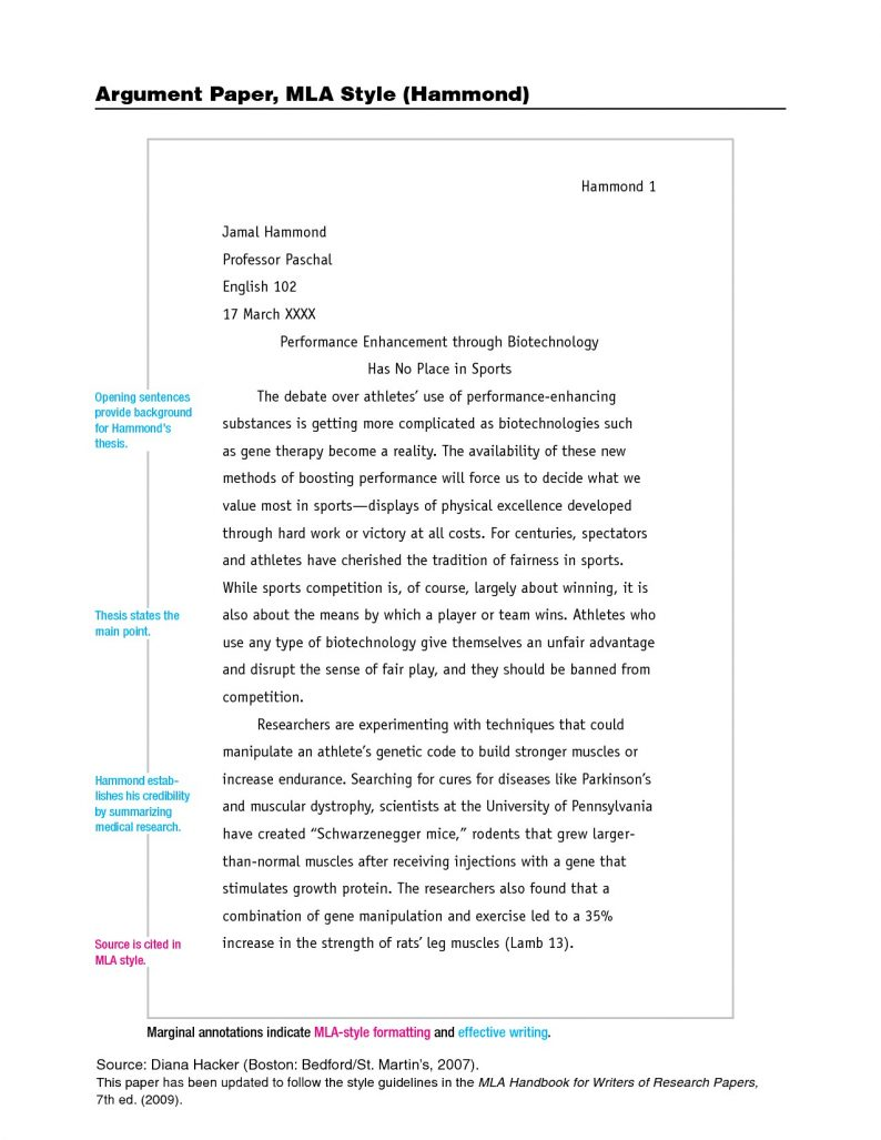 chicago style paper format | bio letter format