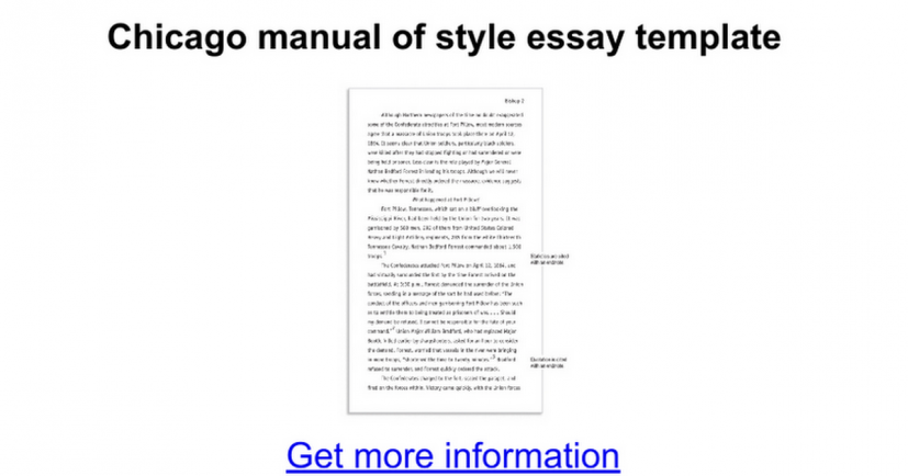 Chicago manual of style essay template Google Docs