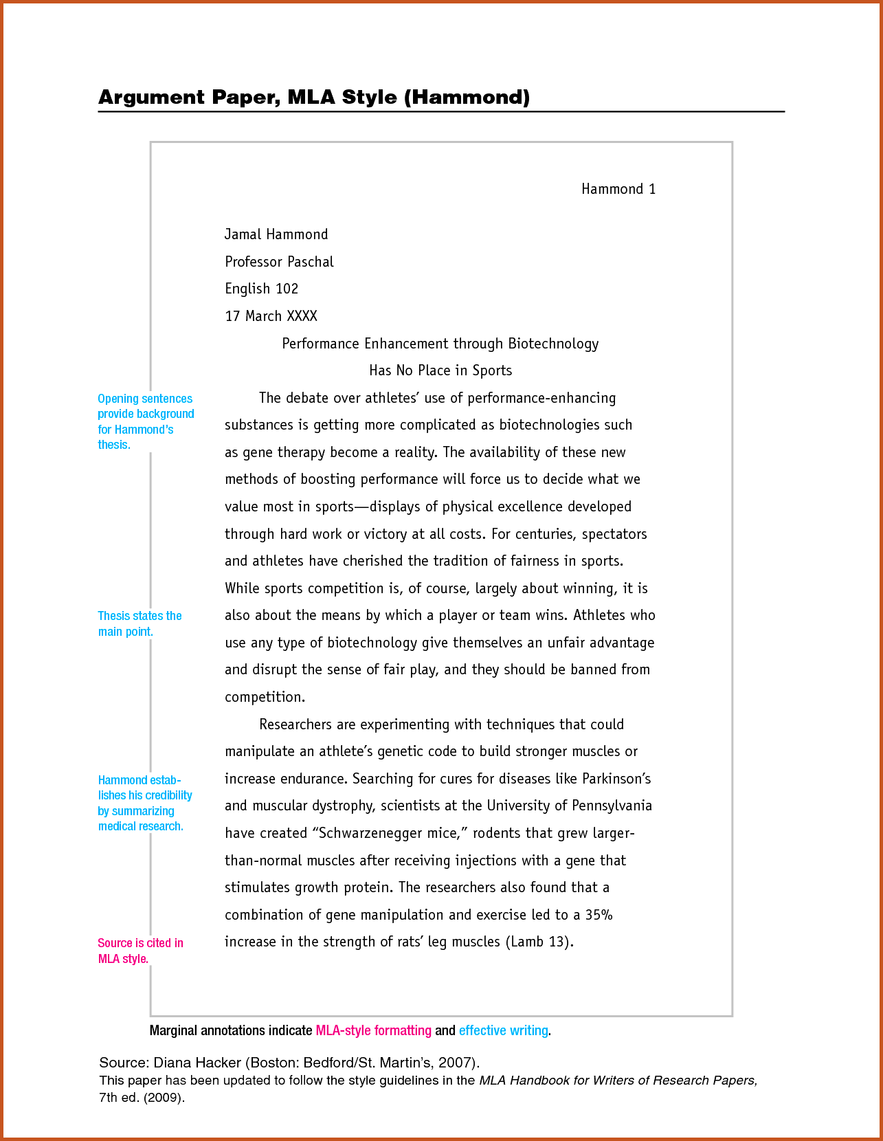 Chicago style sample essay