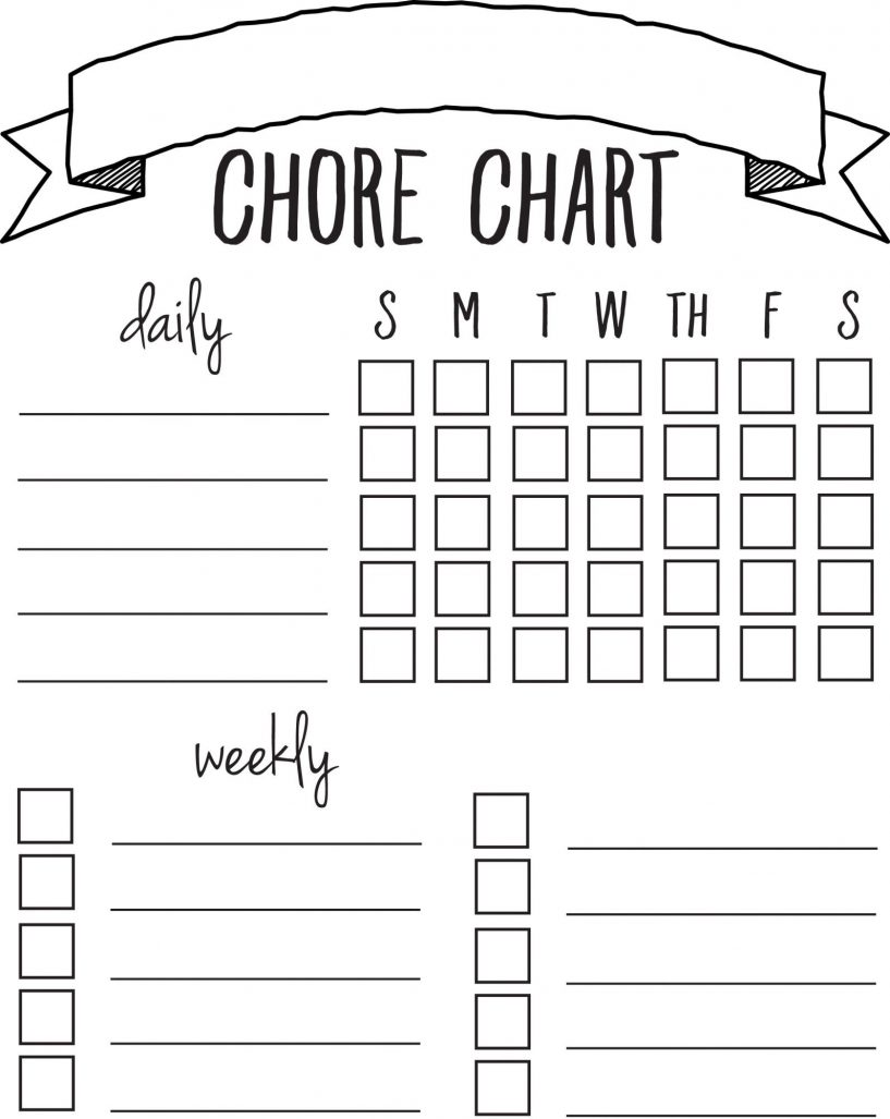 Free Printable Chore Charts Best 25 Printable Chore Chart Ideas On