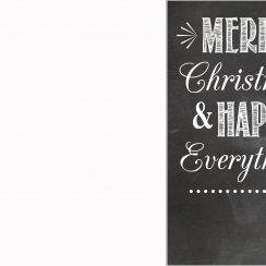 christmas card templates card happy everything blank copy