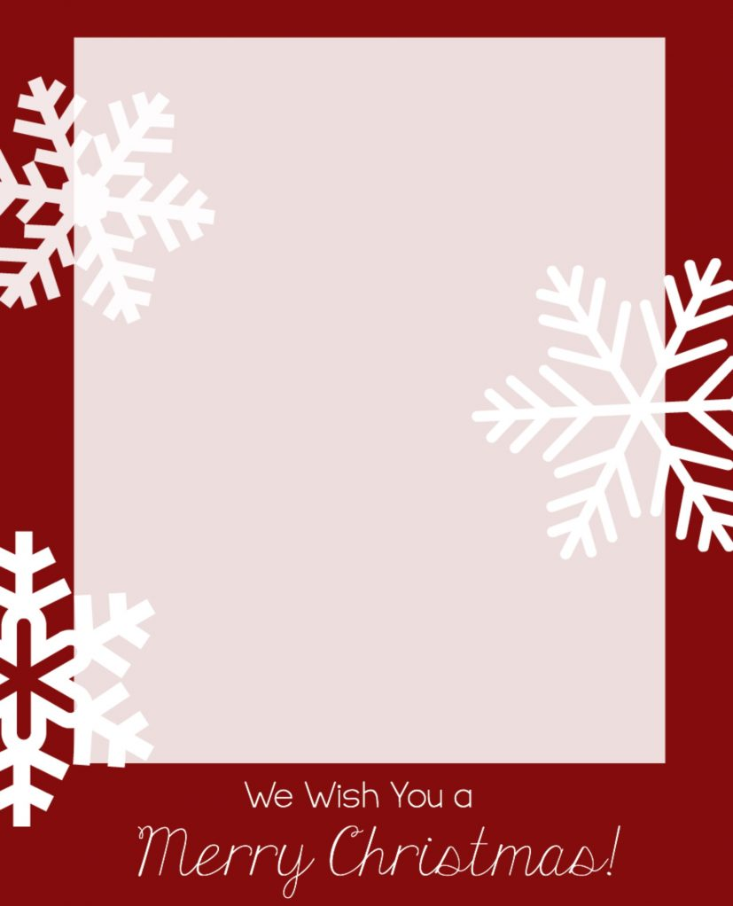 christmas card photo template Ideal.vistalist.co