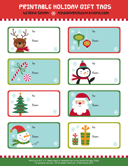 Printable Disney Christmas Gift Tags | Disney Fun and Games