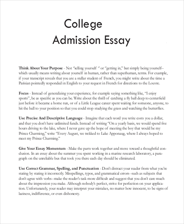 sample college essay Coles.thecolossus.co