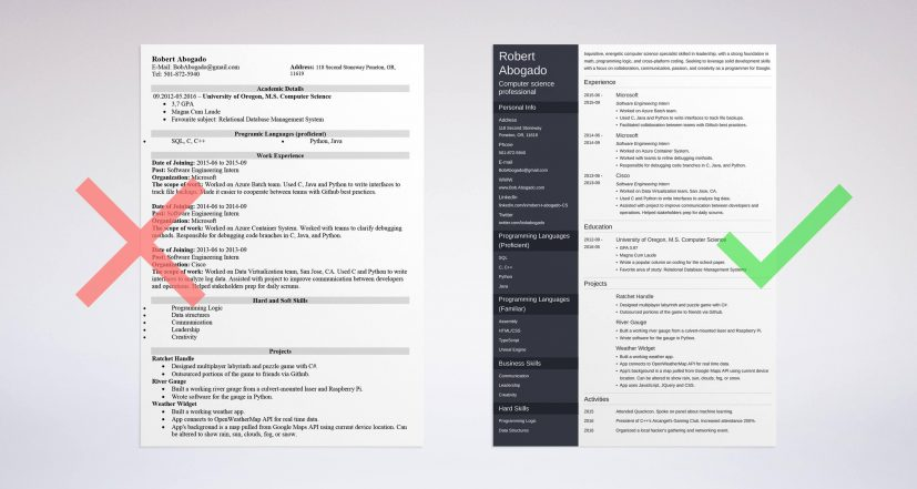 Computer Science Resume Sample Complete Guide 20 Examples