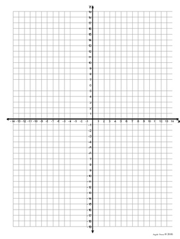Coordinate grid with half marks