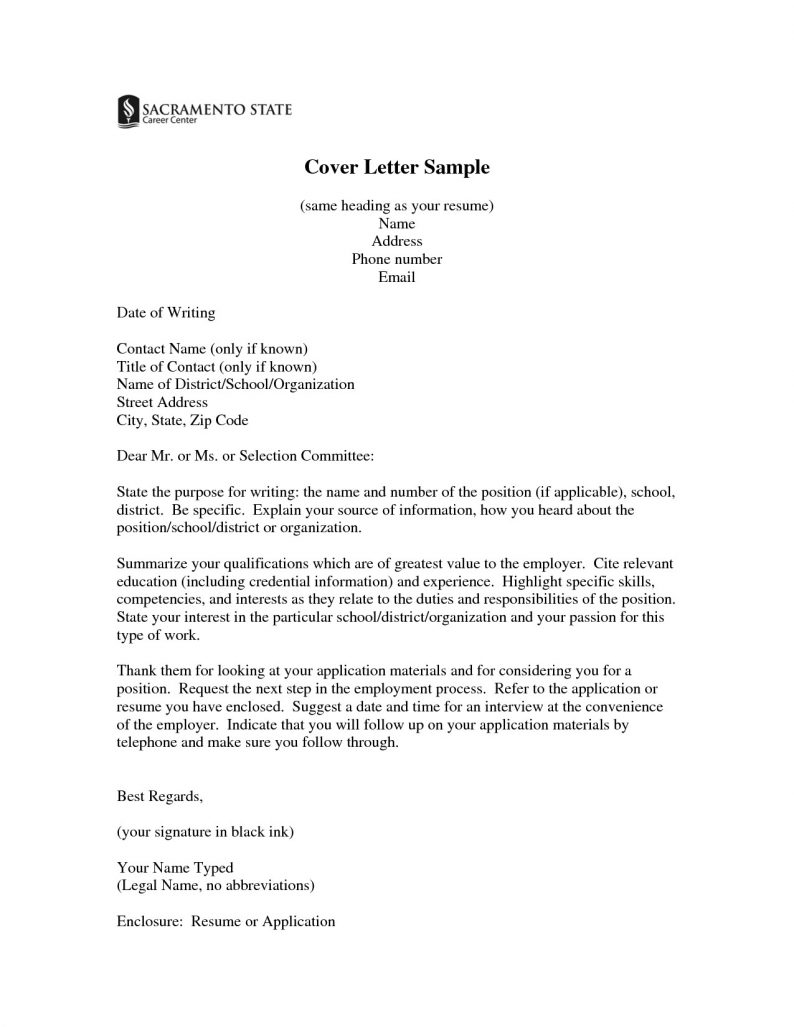 Cover Letter Heading Same Cover Letters for Resume