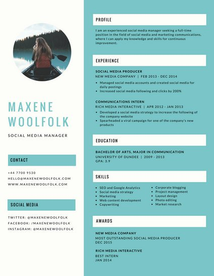 Customize 397+ Creative Resume templates online Canva