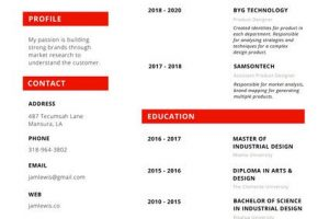 creative resume canva red circle creative resume mackessjg