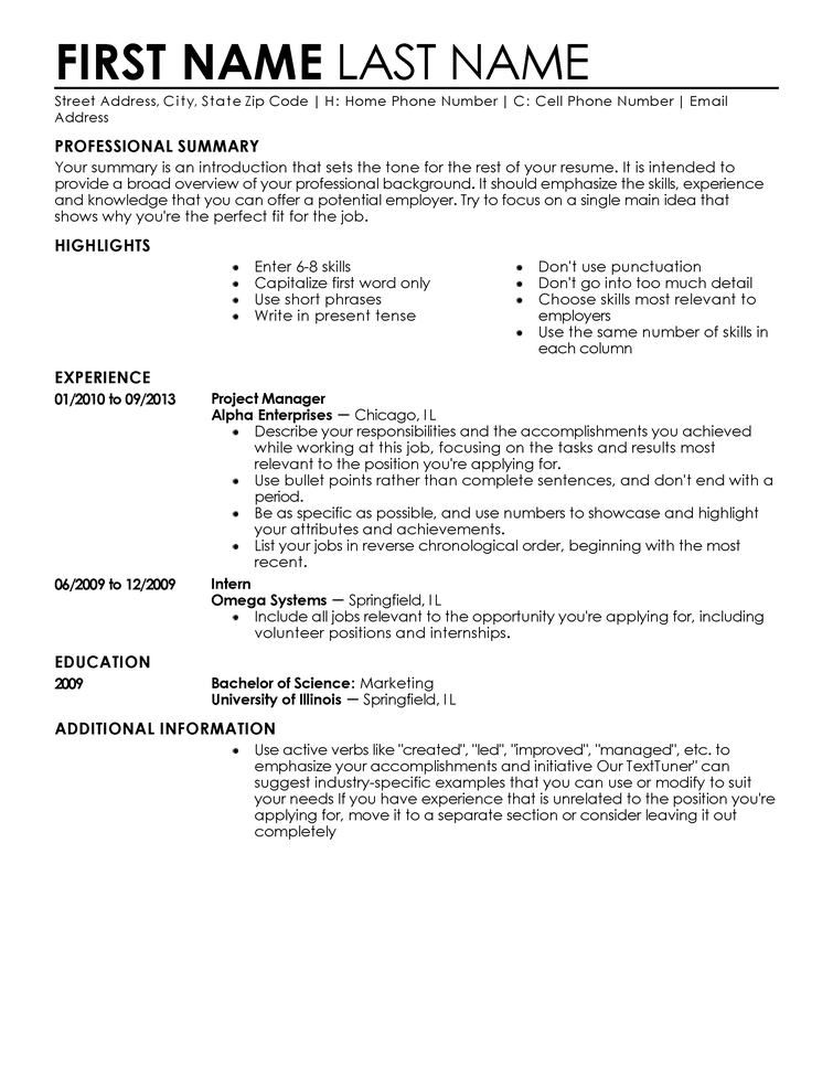 Entry Level Resume Templates to Impress Any Employer | LiveCareer