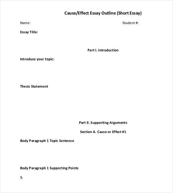 essay outline template An essay outline is a good way to organize your thoughts on the chosen topic and the research material you have gathered on it it includes brief, but structured information about your paper.