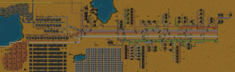 Factorio Forums • View topic First attempt at a main bus system