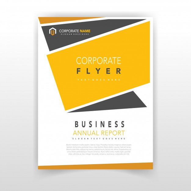 Yellow coporate flyer design Vector | Free Download