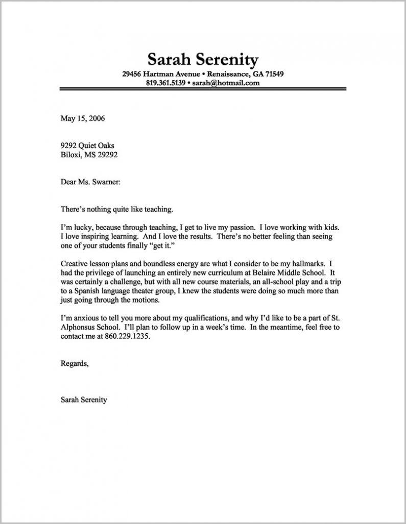 Cover Letter Example Free Download Cover Letter : Resume