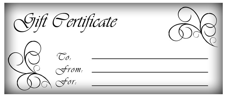 gift certificate template word free download design a gift