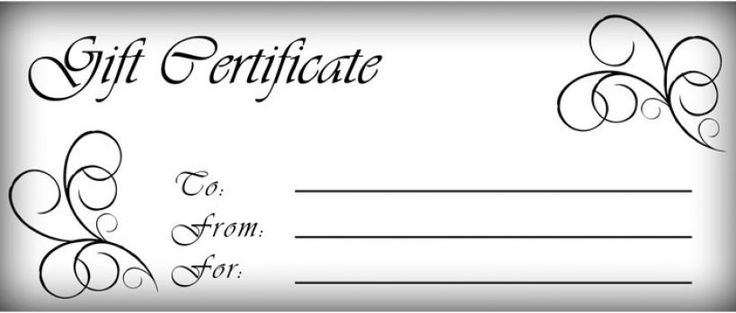 printable gift certificates templates free gift certificate