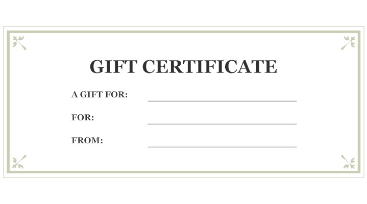 Gift Certificate The Village Crossing