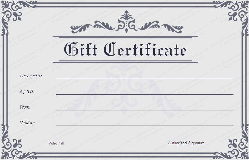 custom gift certificate template custom business gift certificates