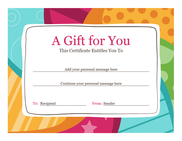 9+ hair gift certificate template | Bussines Proposal 2017