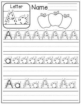 FREE A Z Handwriting Practice by The Moffatt Girls | TpT