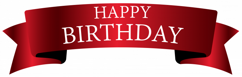 Red Birthday Banner PNG Clipart Image​ | Gallery Yopriceville
