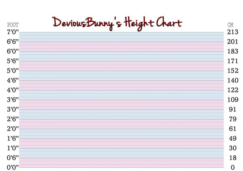 DeviousBunny's Height Chart ver.2.2 by DisastrousBunny on DeviantArt