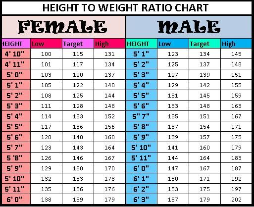 Weight Chart Best 25 Height Weight Charts Ideas On Pinterest