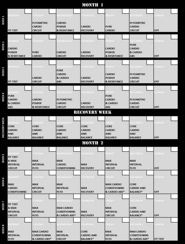 Insanity Workout Schedule Calendar http://intenseworkoutdvd.