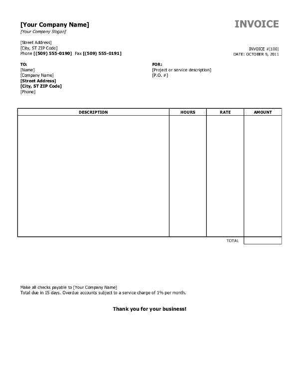 Example Invoice Template Word Shipping Invoice Sample Ricdesign