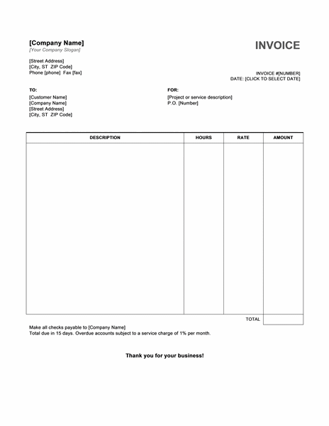 Simple Invoice Template Microsoft Word Serjiom Journal
