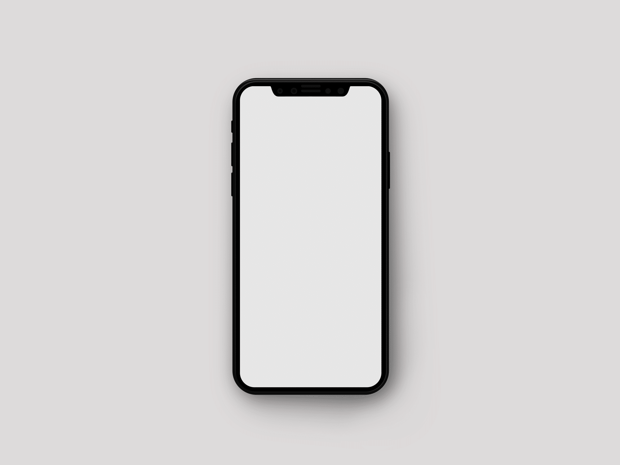 Minimalistic iPhone X Mockup | The Mockup Club