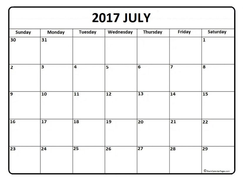 July 2017 calendar | 51+ calendar templates of 2017 calendars